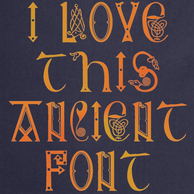 I love this ancient font