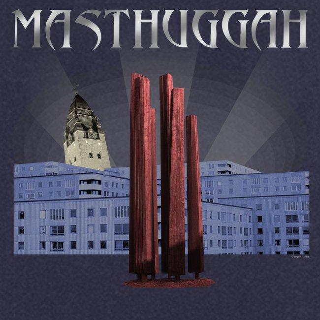 Masthuggah master, kyrka och terass