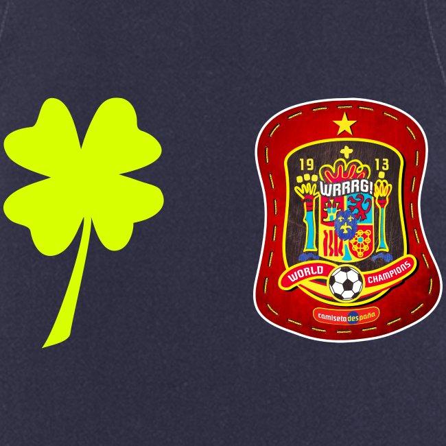 Trébol de la suerte / Escudo de España rojo