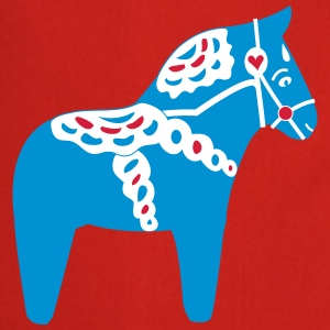 Dala Horse Blue - Cooking Apron