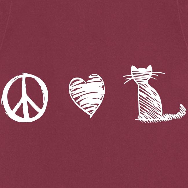 Vorschau: peace love cats - Kochschürze