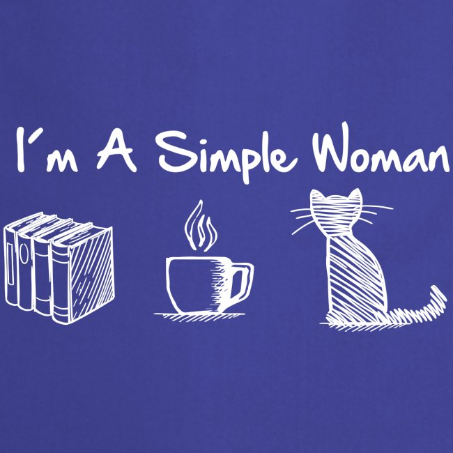 Vorschau: simple woman cat books - Kochschürze