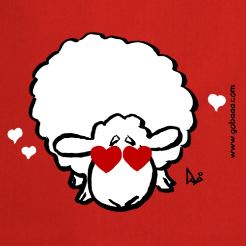 Eye Love Ewe (red edition) - Cooking Apron