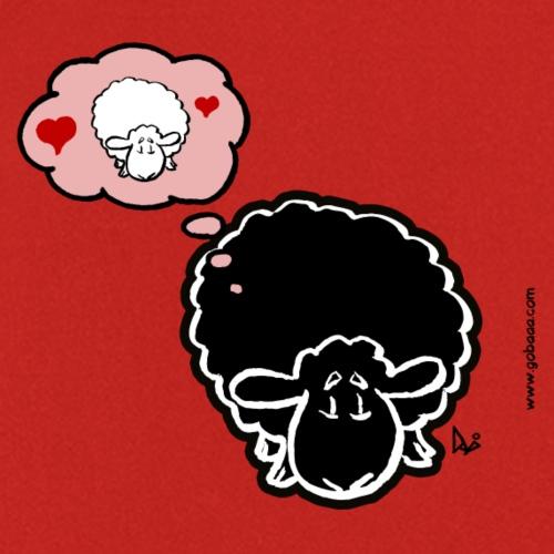 Myślenie o owcach (czarny) - Fartuch kuchenny