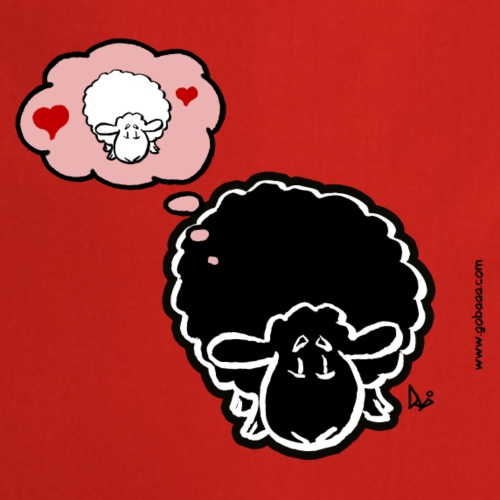 Pensando alla pecora (nero) - Grembiule da cucina