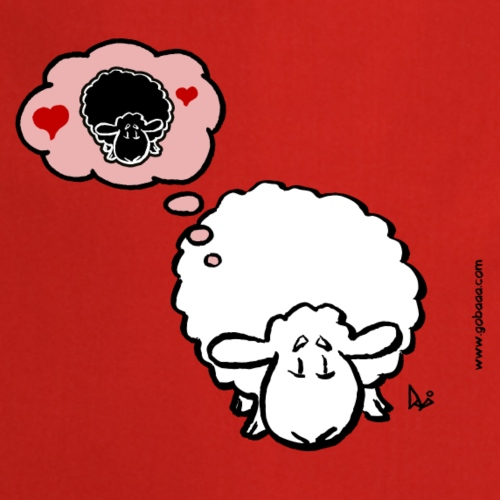 Tänker på Ewe (vit) - Förkläde