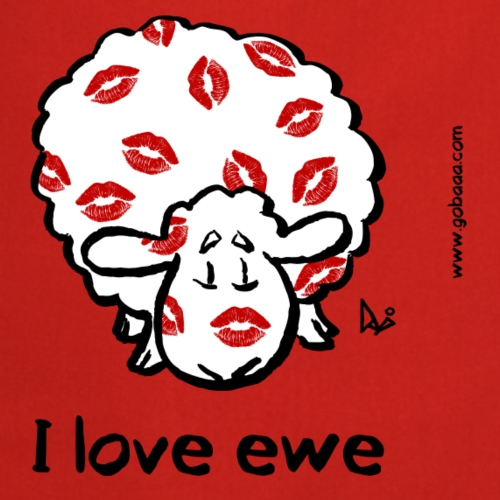 Kiss Ewe (I love ewe edition) - Fartuch kuchenny