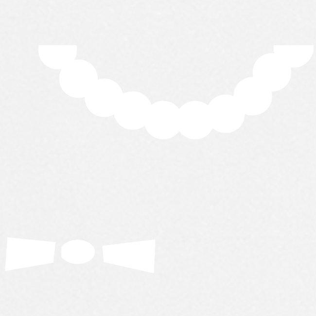 Perlenschürze Schleife
