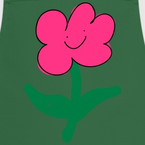 smiling pink flower - Cooking Apron