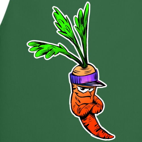 Lustige Karotte Cartoon - Kochschürze