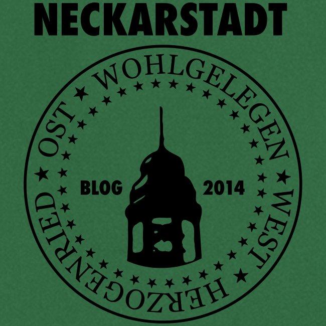 Neckarstadt Blog seit 2014 (Logo dunkel)