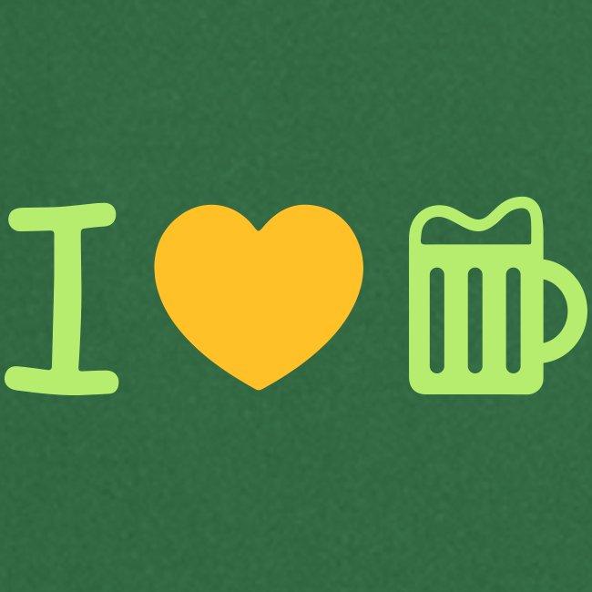 i love beer heart Biergarten Glas Herz Durst Prost
