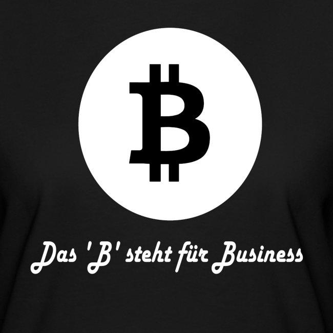 Das B steht fuer Business weiss