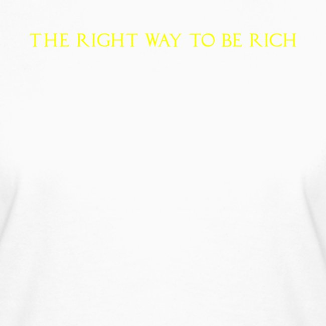 The right way to be rich