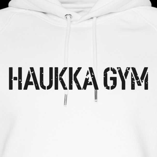 HAUKKA GYM roso text
