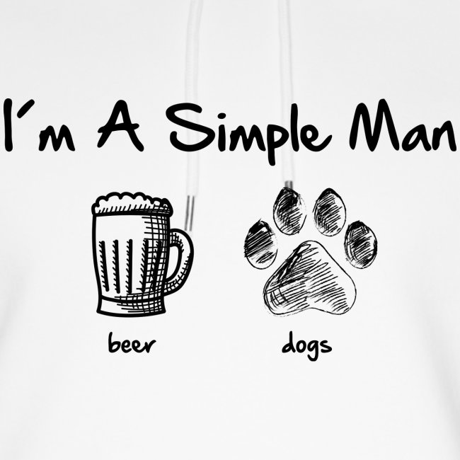 Vorschau: simple man dogs beer - Unisex Bio-Hoodie von Stanley & Stella