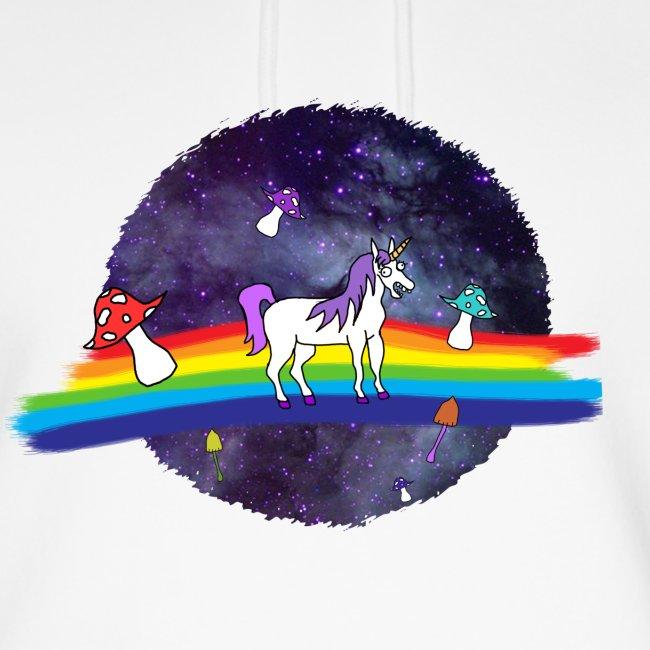 Mushroom Unicorn in Space Hoodie