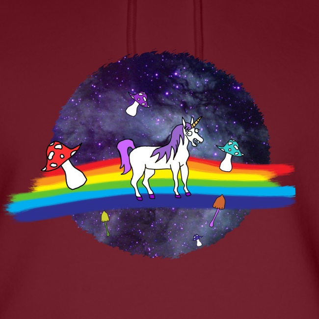 Mushroom Unicorn in Space Hoodie