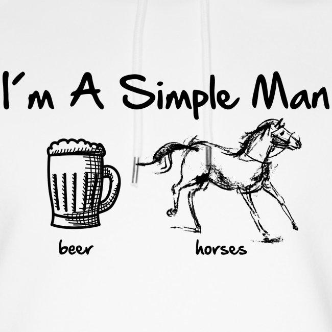 Vorschau: simple man pferd - Unisex Bio-Hoodie von Stanley & Stella