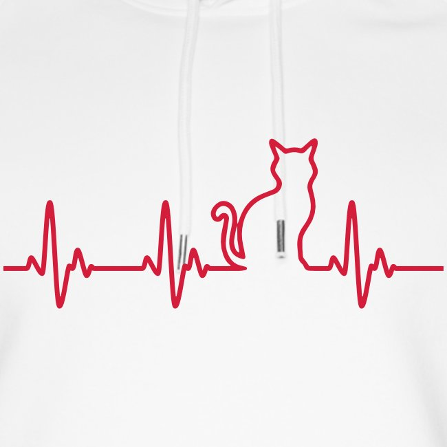 Vorschau: Ein Herz für Katzen - Unisex Bio-Hoodie von Stanley & Stella