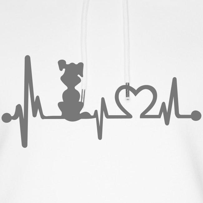 Vorschau: dog heart beat - Unisex Bio-Hoodie von Stanley & Stella