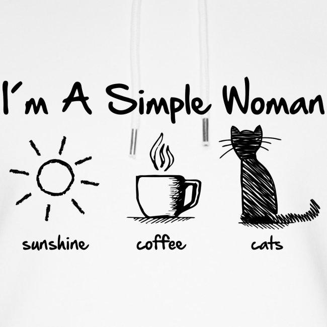 Vorschau: simple woman cats - Unisex Bio-Hoodie von Stanley & Stella