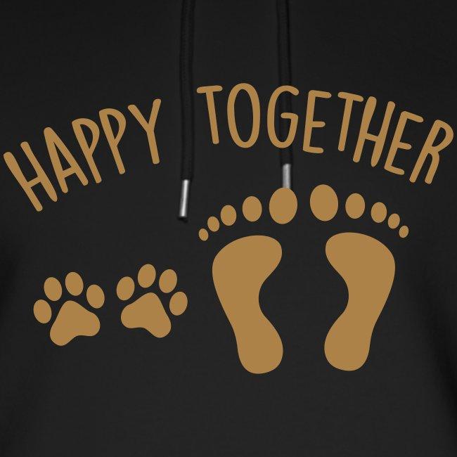 Vorschau: happy together dog - Unisex Bio-Hoodie von Stanley & Stella
