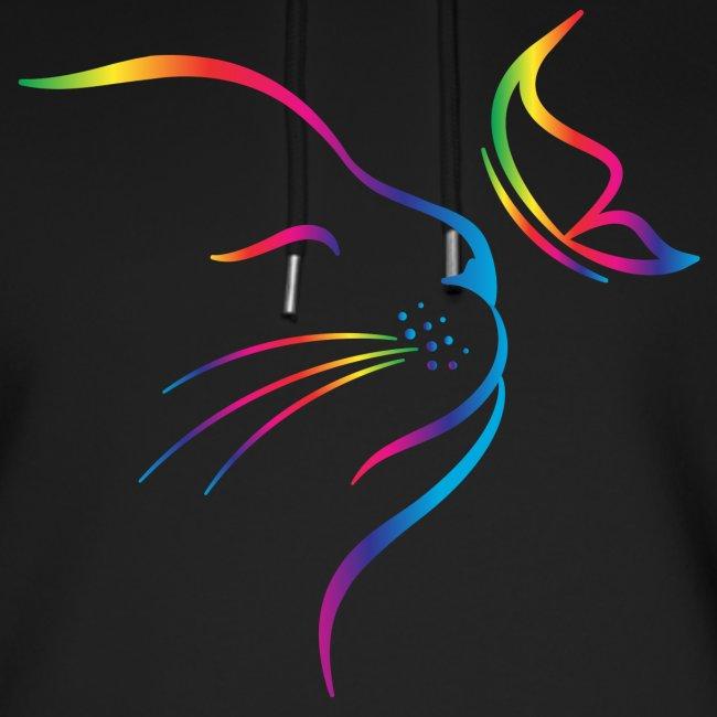 Vorschau: rainbow butterfly cat - Unisex Bio-Hoodie von Stanley & Stella
