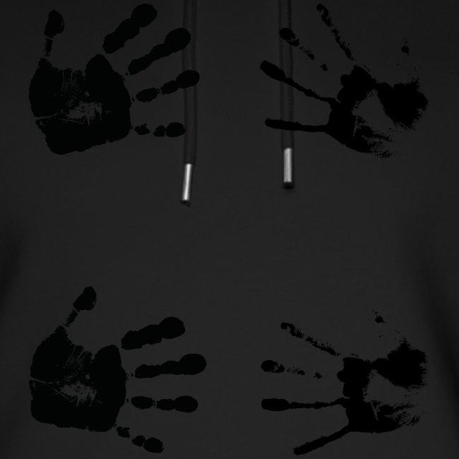 Schwarze Handabdrücke. Geschenk