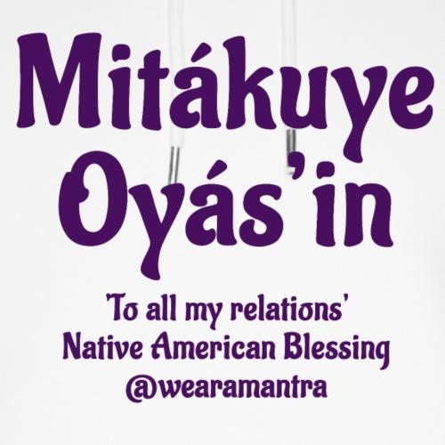 Mita kuye Oyas'in purple - Felpa con cappuccio ecologica unisex di Stanley & Stella