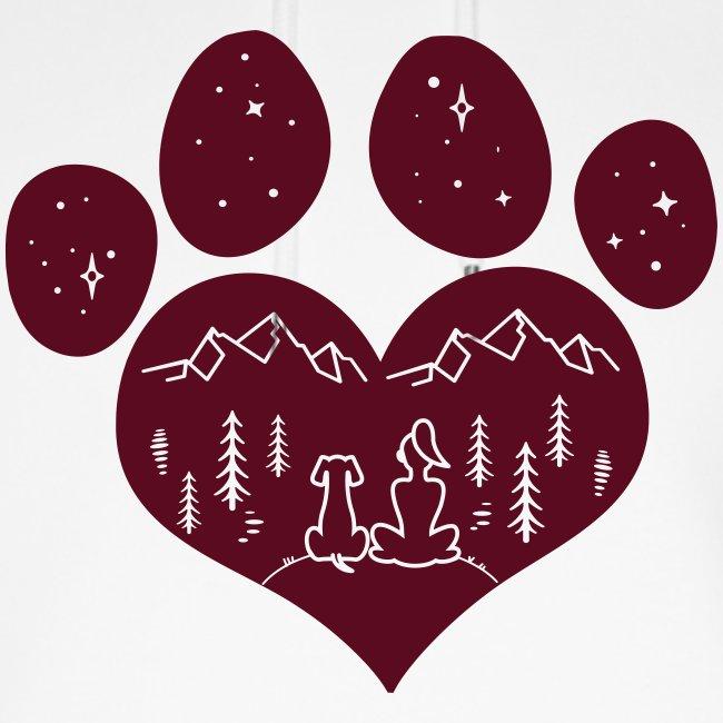 Vorschau: dog girl outdoor pawheart - Unisex Bio-Hoodie von Stanley & Stella