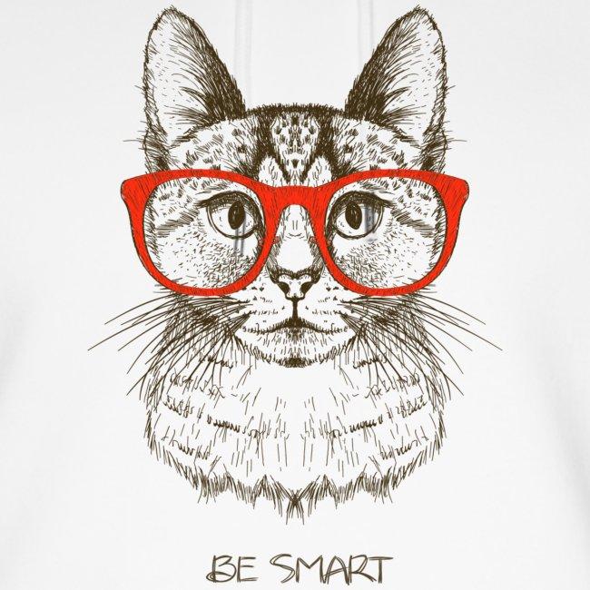 Vorschau: Cat Hipster - Unisex Bio-Hoodie von Stanley & Stella