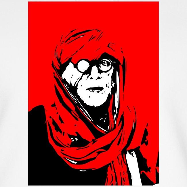 L'homme rouge représente la terre rouge d'Afrique.
