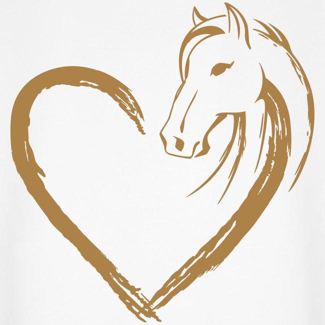Vorschau: Pferde Herz - Unisex Bio-Hoodie von Stanley & Stella