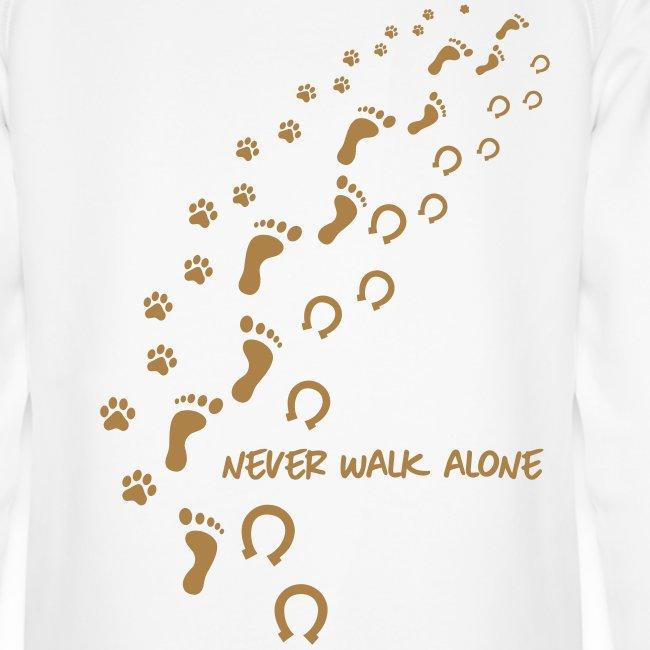 Vorschau: never walk alone hund pferd - Unisex Bio-Hoodie von Stanley & Stella