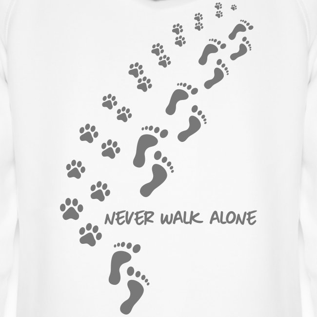 Vorschau: never walk alone dog - Unisex Bio-Hoodie von Stanley & Stella