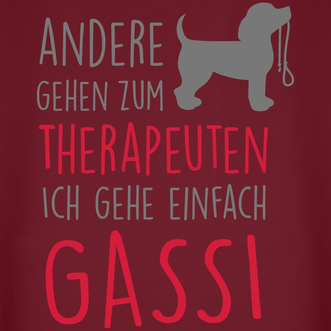 Vorschau: Gassi Therapeut Hund - Unisex Bio-Hoodie von Stanley & Stella