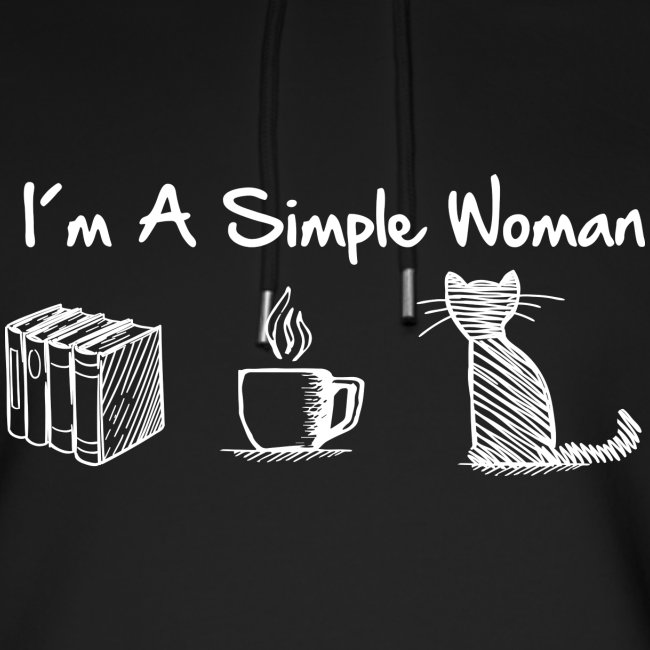 Vorschau: simple woman cat books - Unisex Bio-Hoodie von Stanley & Stella