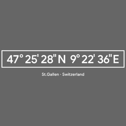 St.Gallen Koordinaten - Unisex Bio-Hoodie von Stanley & Stella