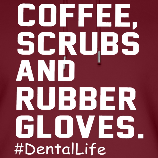 Coffee scrubs and rubber gloves