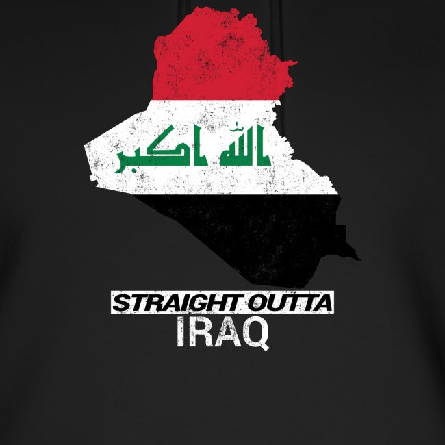 Straight Outta Iraq country map & flag