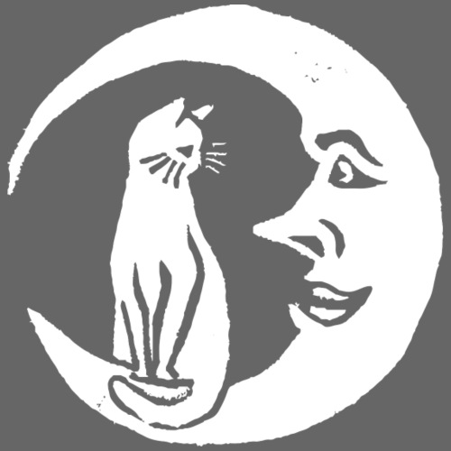Katze mit Mond - Unisex Bio-Hoodie von Stanley & Stella