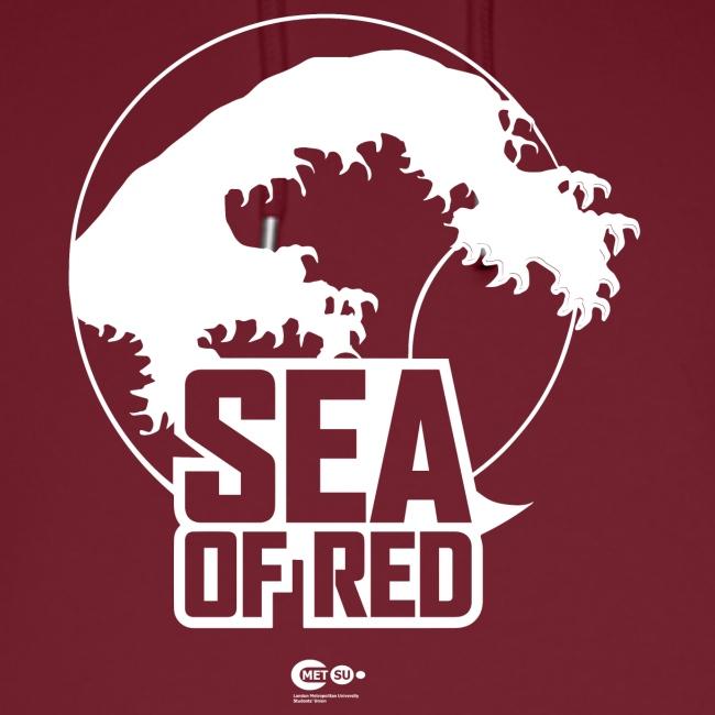 Sea of red logo - white