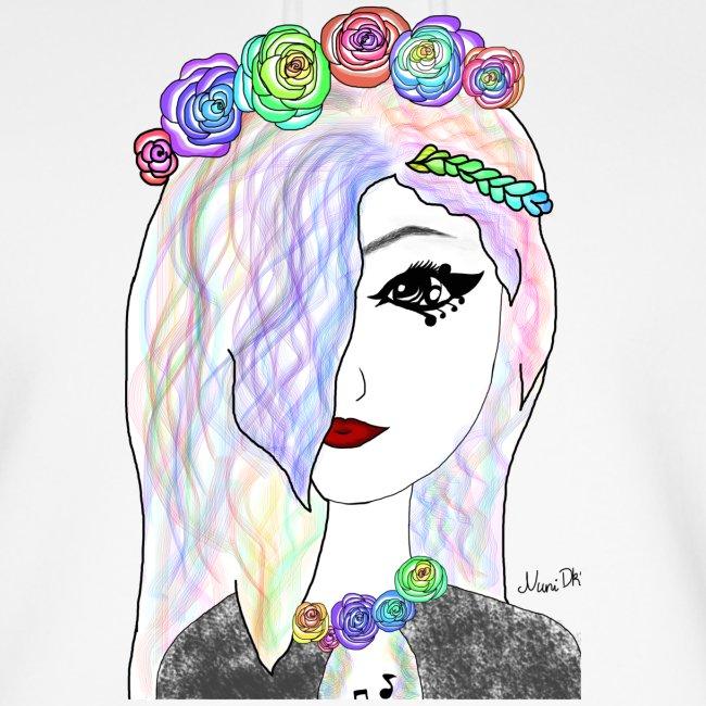 Rainbow flower girl - Female shirt