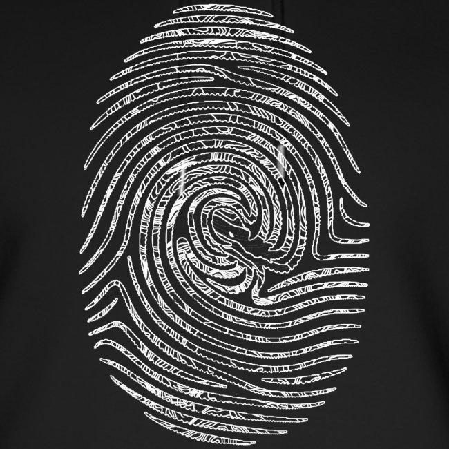 Tintenfisch Fingerabdruck weiss