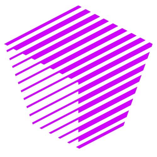 KUBUS Signature_purple - Unisex Bio-Hoodie von Stanley & Stella