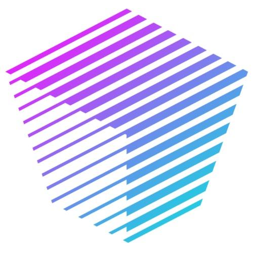 KUBUS Signature_purplefade - Unisex Bio-Hoodie von Stanley & Stella