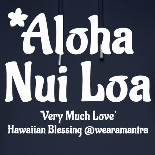 Aloha Nui Loa 2 white - Felpa con cappuccio ecologica unisex di Stanley & Stella