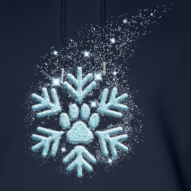 Vorschau: dog paw snowflake - Unisex Bio-Hoodie von Stanley & Stella