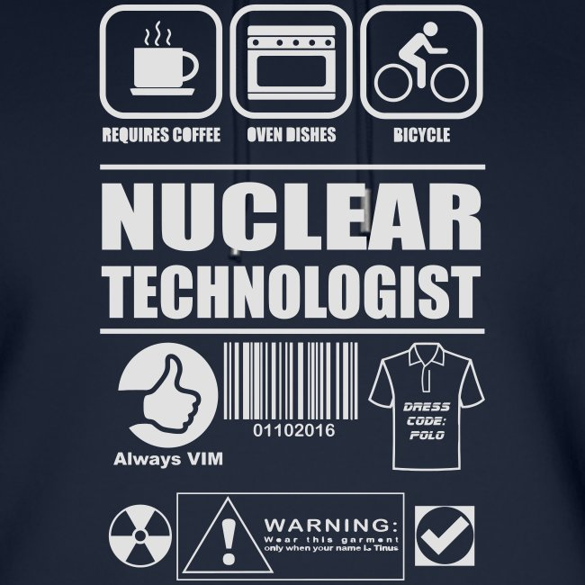 Nuclear technologist bike cooking warning
